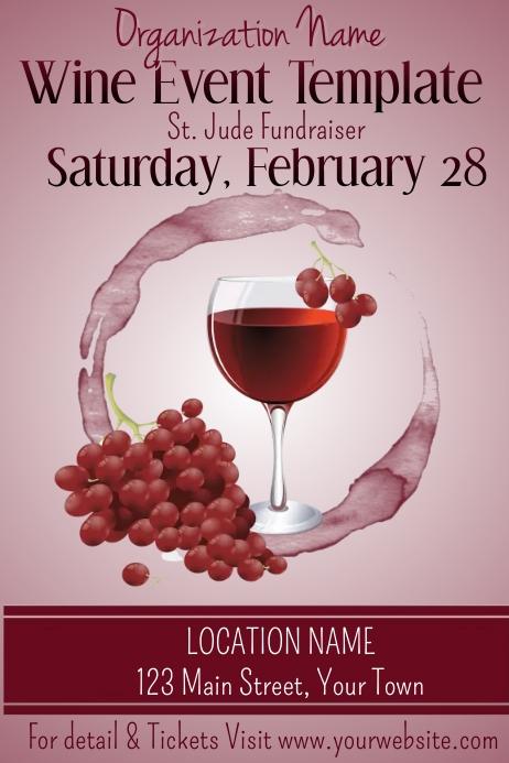 Modern Wine Event Invitation