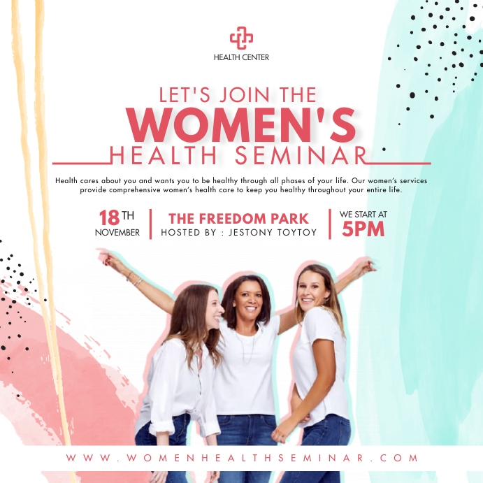 Modern Women's Health Advert Pos Instagram template