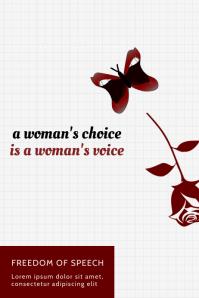 Modern Women's Rights Poster Template
