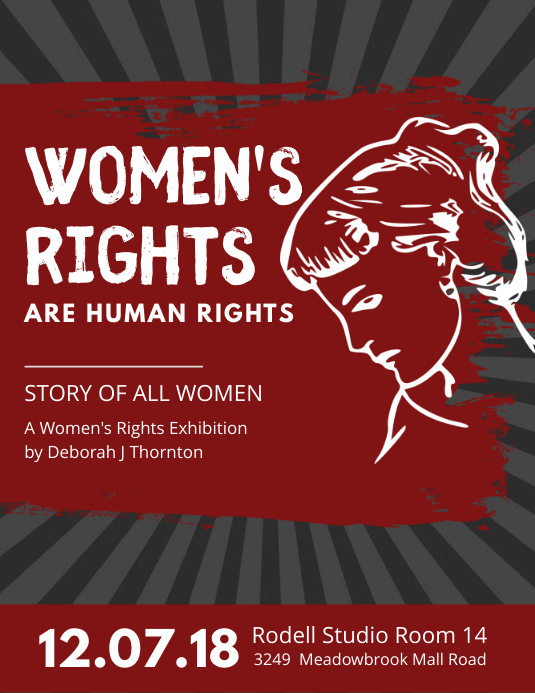 modern women s rights propaganda poster template postermywall
