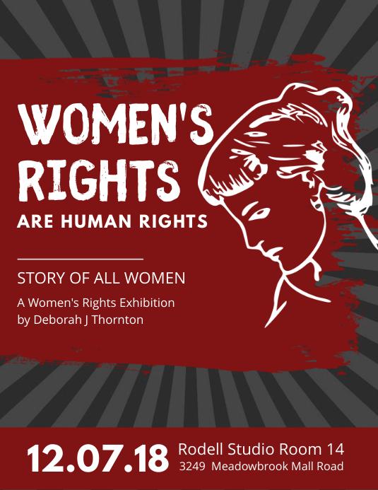 Modern Women's Rights Propaganda Poster