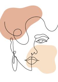 Modern Women Line Art A2 template