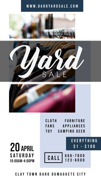 Modern Yard Sale Digital Display Ad História do Instagram template
