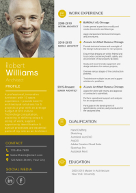 Modern Yellow and Grey Resume