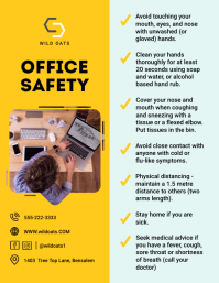 Modern Yellow Office Rules and Regulations Fl Flyer (US Letter) template