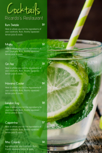 Mojito Cocktail Menu Template