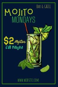 Mojito Mondays Poster Template