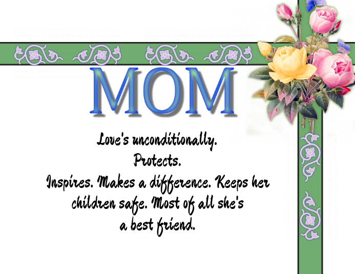 MOM: A Mother's Day Poster