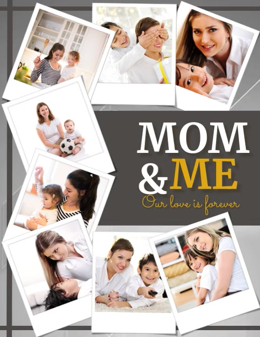 Mom & Me, Mother's Day Ulotka (US Letter) template