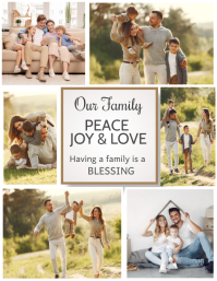 mom and me, family collage Flyer (US Letter) template