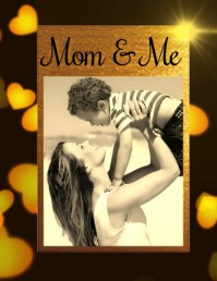 mom and me,mothers day Folheto (US Letter) template