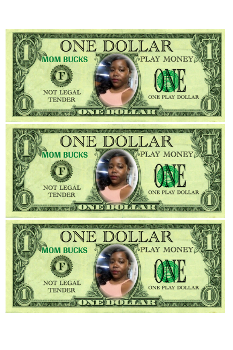 photo about Mom Bucks Printable known as Mother Dollars Template PosterMyWall