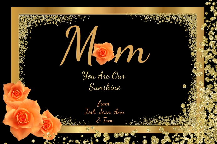 Mom Happy Mother's Day Plakat template