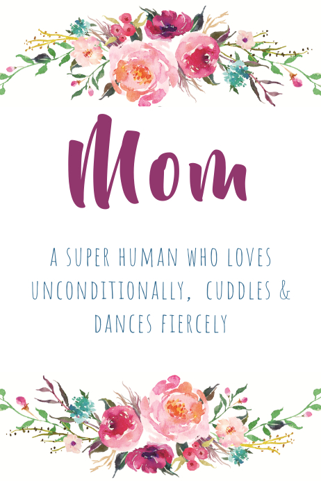mom watercolor wreath template postermywall