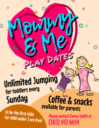 Mommy & Me Play Dates Flyer