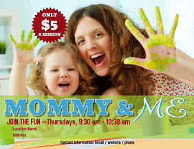 Mommy and Me Flyer (format US Letter) template