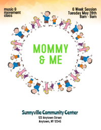 mommy and me event flyer Template