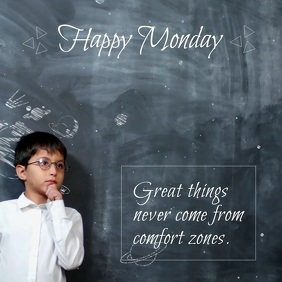 Monday motivation flyer