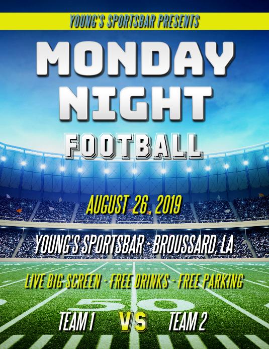 MONDAY NIGHT FOOTBALL FLYER
