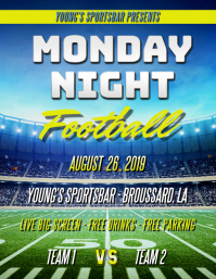 MONDAY NIGHT FOOTBALL FLYER