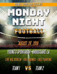 MONDAY NIGHT FOOTBALL FLYER TEMPLATE