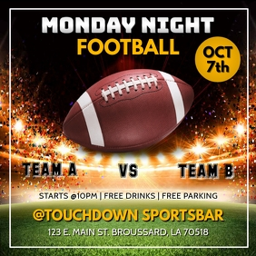 MONDAY NIGHT FOOTBALL TEMPLATE