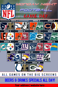 Monday Night NFL Game Schedule
