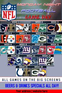 Monday Night NFL Game Schedule