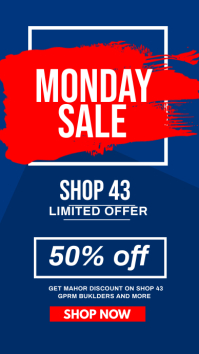 Monday sale flyer Instagram Story template