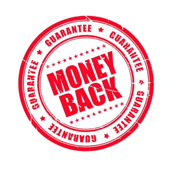 Money back guarantee Logo template