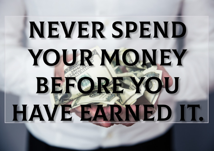 MONEY EARNED QUOTE TEMPLATE A3