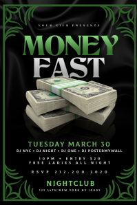 MONEY FAST Flyer Template Banner 4 x 6 fod