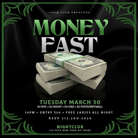 MONEY FAST Instagram Flyer Template