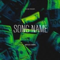 money green album cover template ปกอัลบั้ม