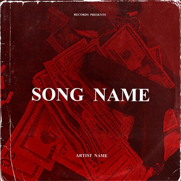 MONEY GUN mixtape cover art design template Albumhoes