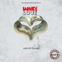 money love Music Mixtape/Album Cover A Okładka albumu template