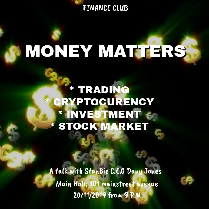 MONEY MATTERS VIDEO FLYER