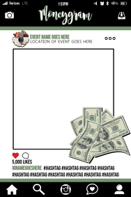 Money Party Prop Frame