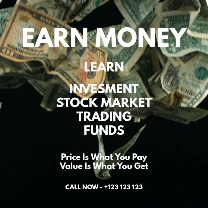 money poster Persegi (1:1) template