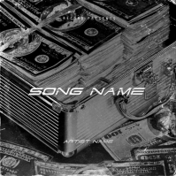 money rap mixtape cover art design template