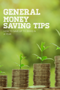 Money saving Pinterest Pin Template Pinterest-afbeelding