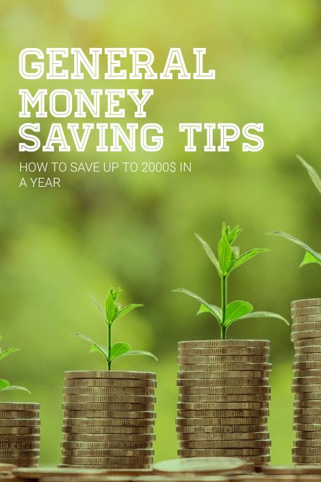 Money saving Pinterest Pin Template