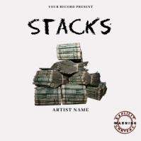 money stacks Music Mixtape/Album Cover A template