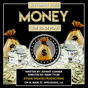MONEY STAGE PLAY FLYER TEMPLATE