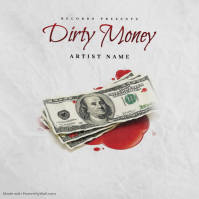 Money Blood Trap mixtape cover design template