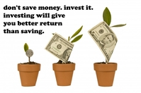 money tree growing investing poster template