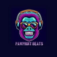 Monkey music beat logo template