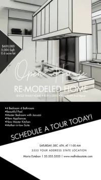 Monochrome Open House Upscale Home Instagram template
