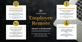 Monochrome Remote Work Company Guidelines Facebook Shared Image template