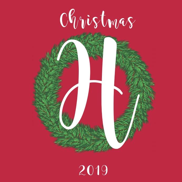 Monogram Christmas Wreath Instagram